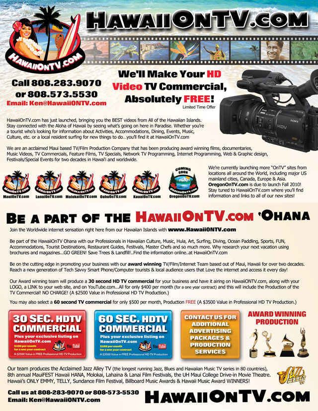 Advertise With HawaiiOnTv.com