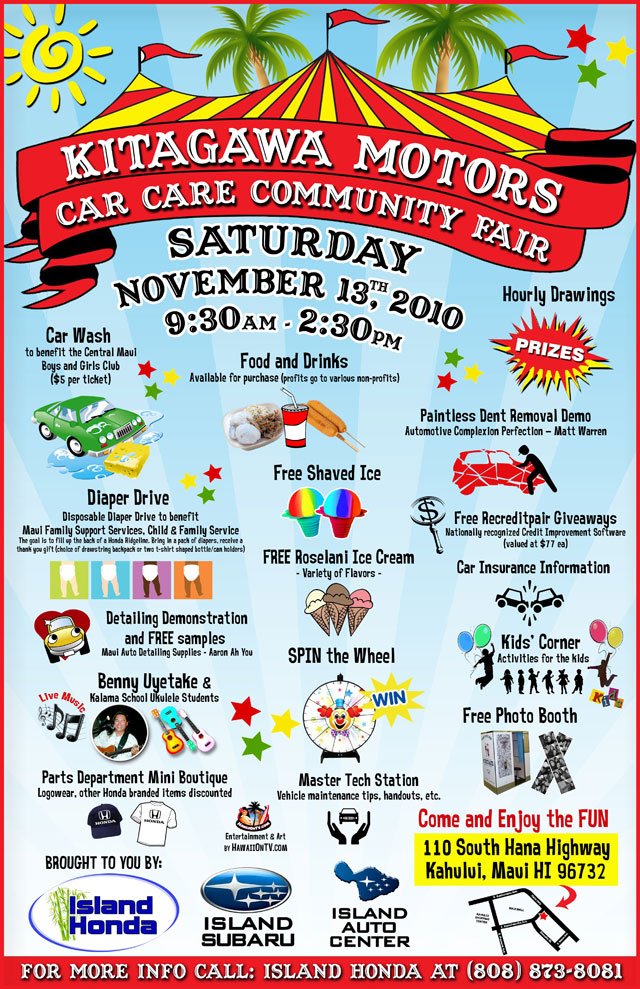 Kitagawa Motors - Maui Hawaii - Car Care Canival - 11/13/10