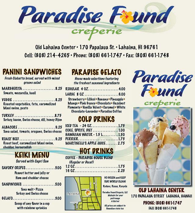 Paradise Found Creperie - Lahaina Maui Hawaii