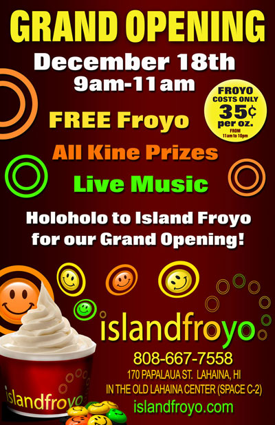 Island Froyo Maui - Frozen Yogurt in Lahaina!