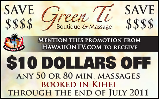 Green Ti Boutique and Massage - Kihei Maui Hawaii