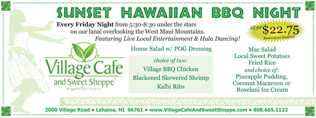 Village Cafe BBQ Night