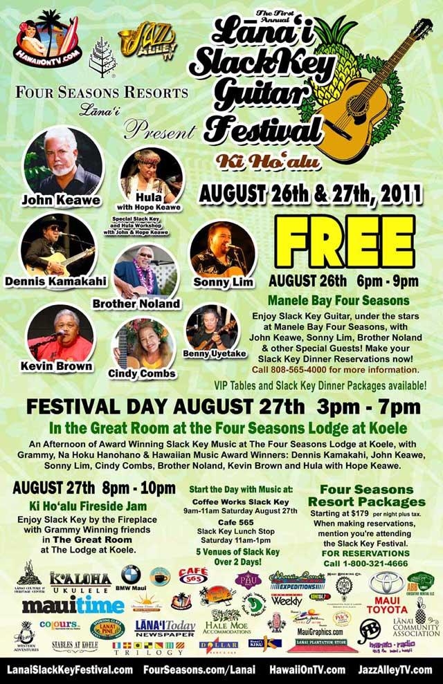 Lanai Slack Key Festival