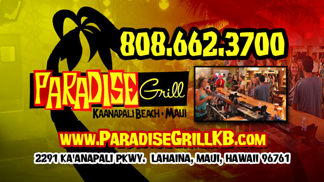 Paradise Grill Kaanapali Beach
