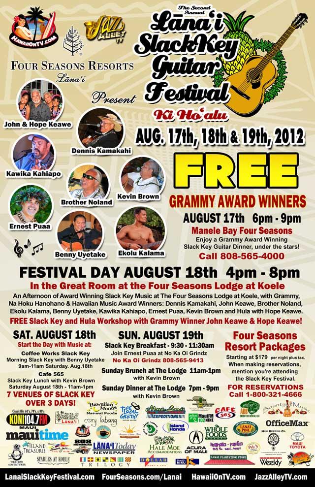 Lanai Slack Key Festival 2012
