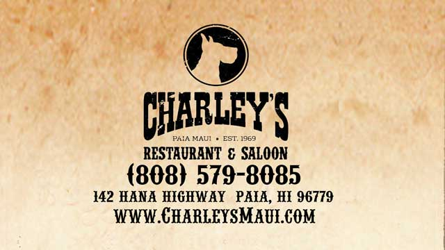 Charley's Restaurant and Saloon - Paia Maui Hawaii