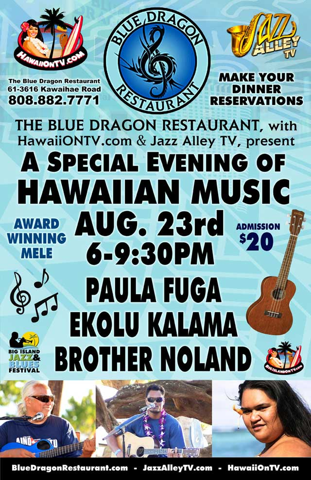 Blue Dragon Evening of Hawaiian Music