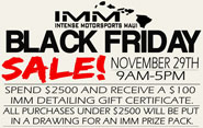IMM Maui - Black Friday 2013