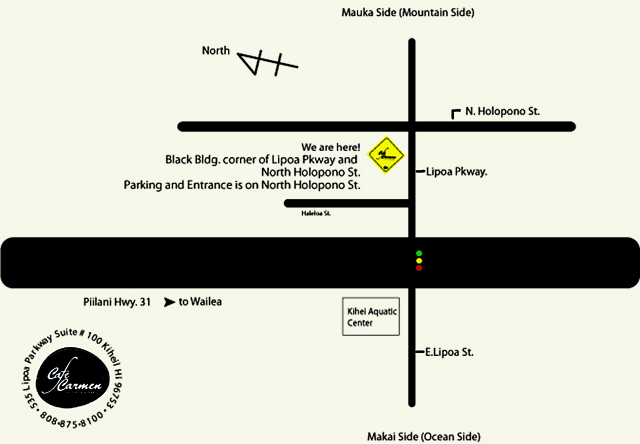 Directions to Cafe Carmen Maui