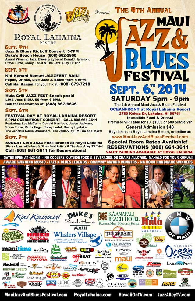 Maui Jazz Blues 2014