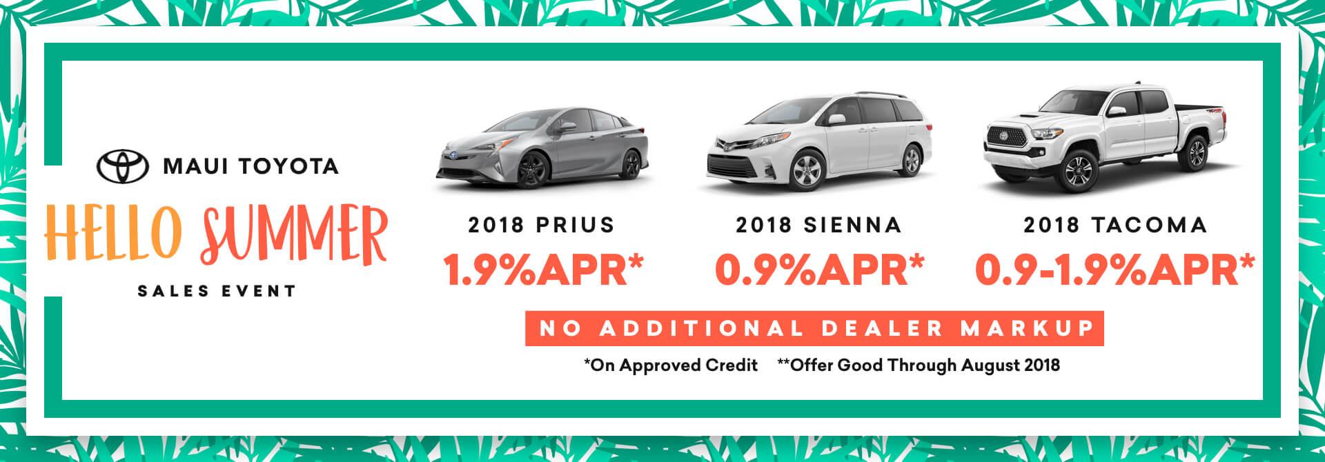 Maui Toyota July 2018