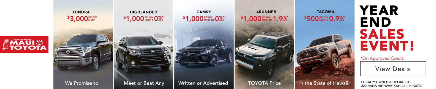 Maui Toyota Year End Sale 2019